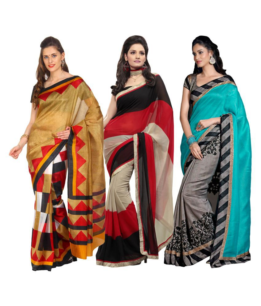 Parchayee Multicoloured Bhagalpuri Silk Saree Combos