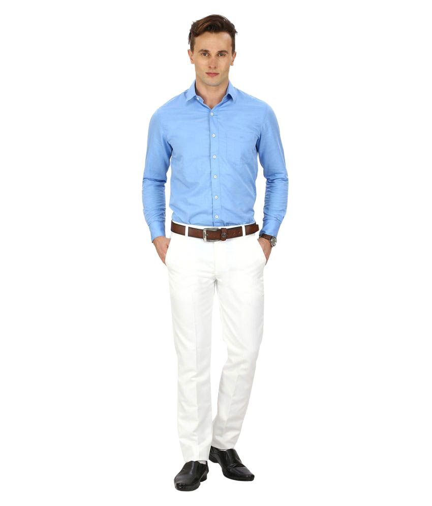 Routeen White Slim Flat