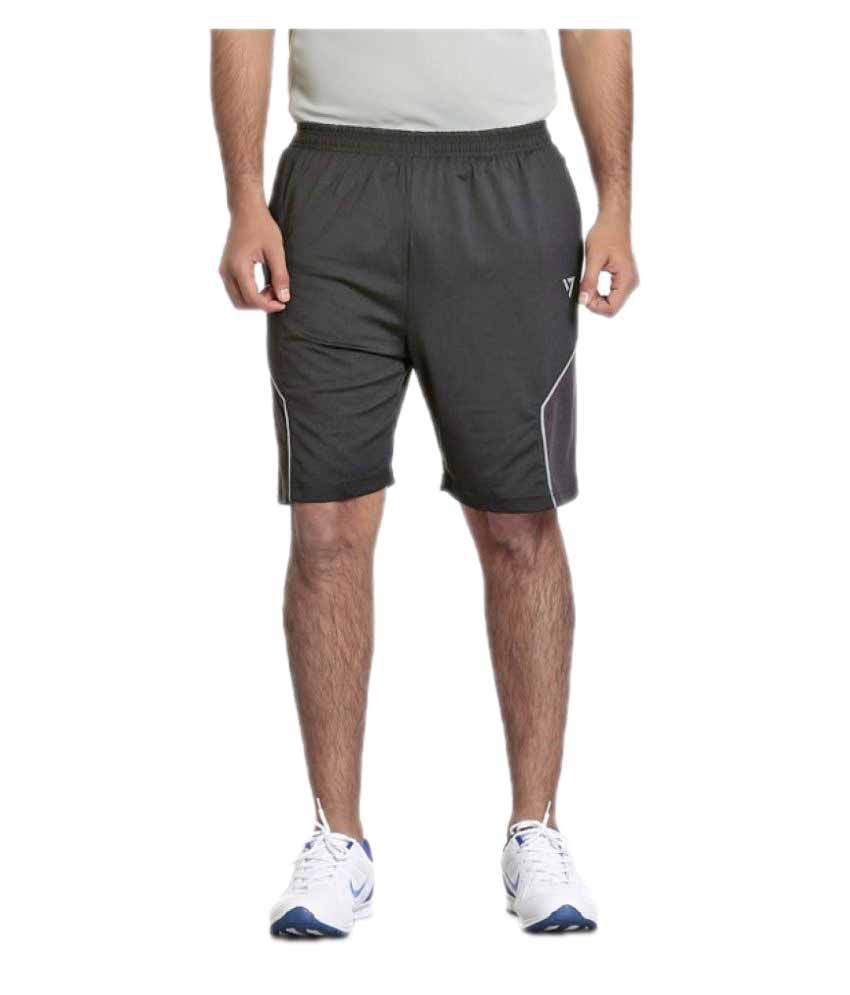 Seven Grey Polyester Short