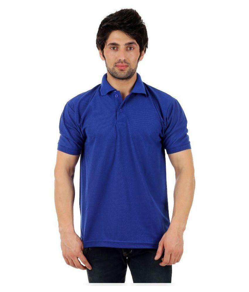 loveish Blue Cotton Polo T-Shirt
