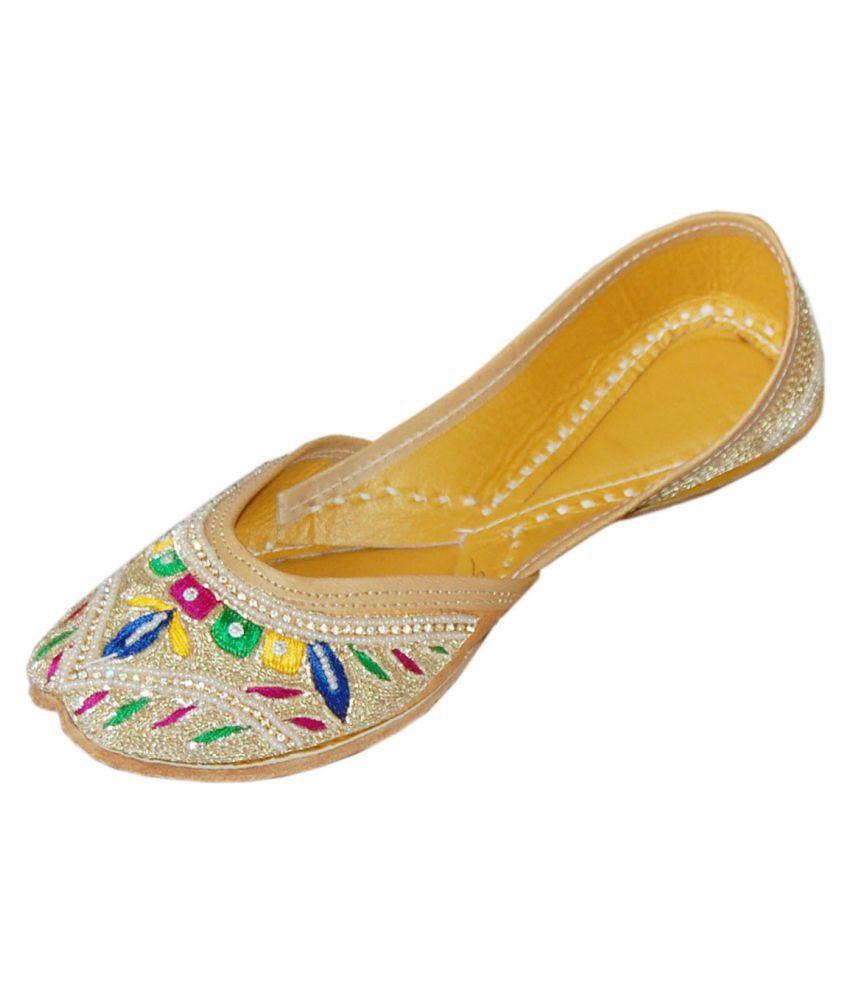 DesiArchies Multi Color Flat Ethnic Footwear