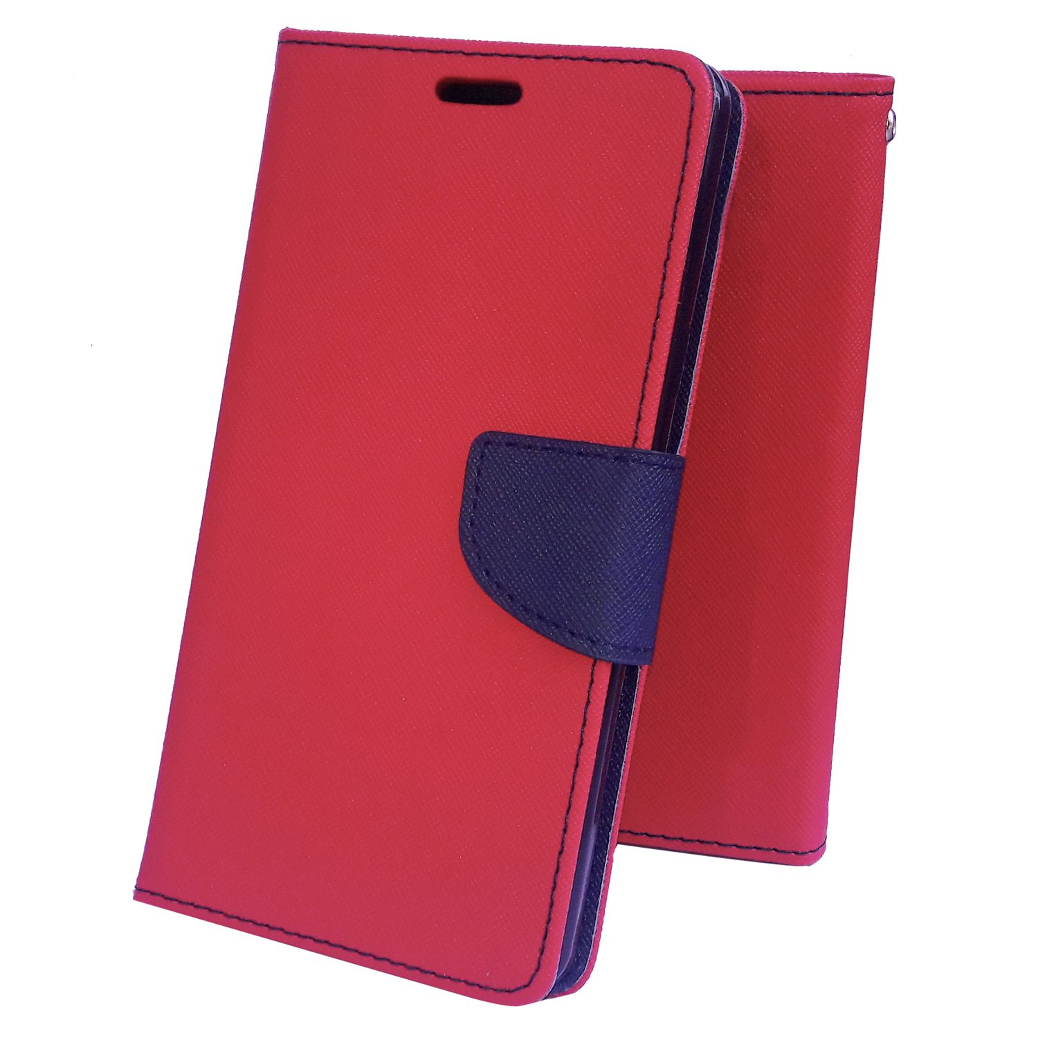 Nokia Lumia 640 XL Flip Cover by Moblo - Red