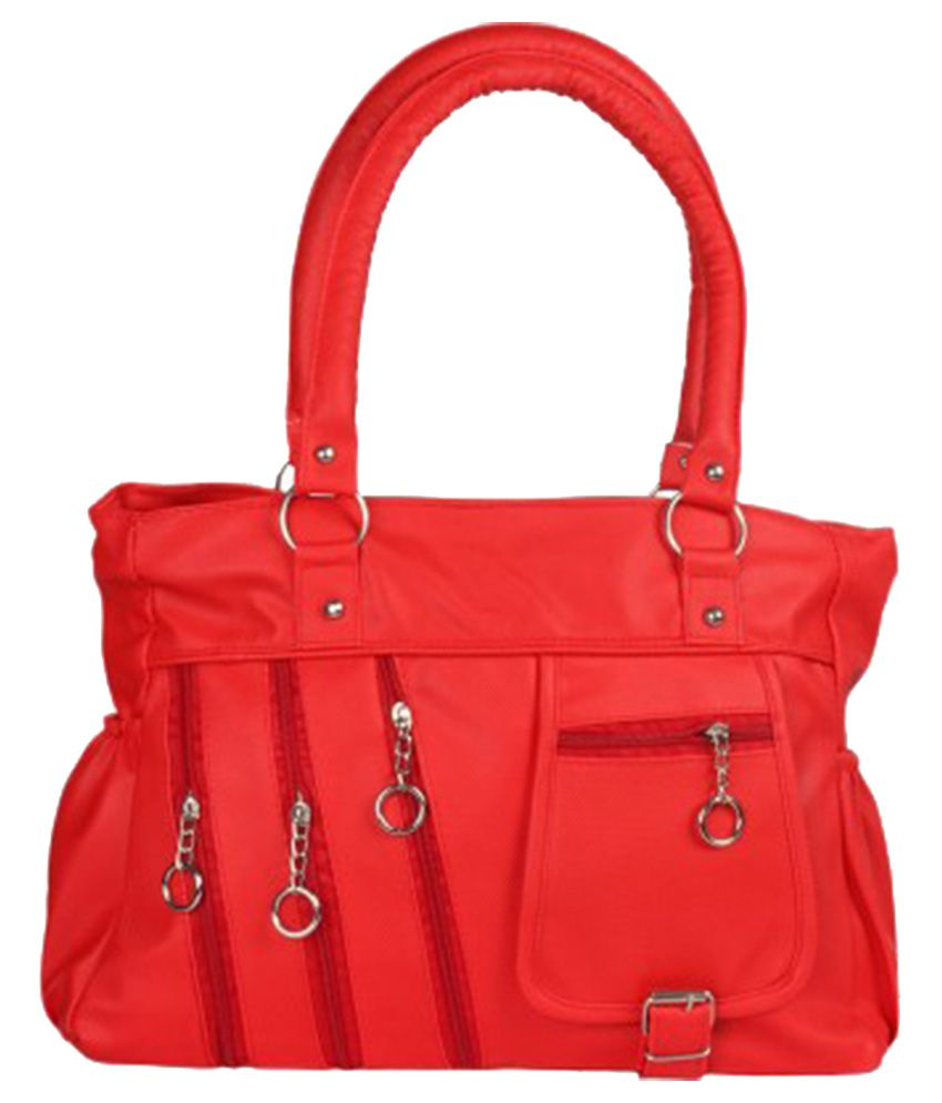 CG Red Canvas Shoulder Bag