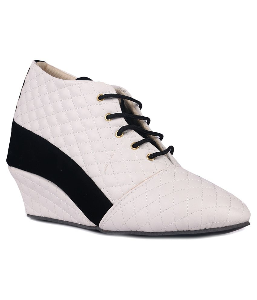 djh white ankle length boots price in india buy djh white