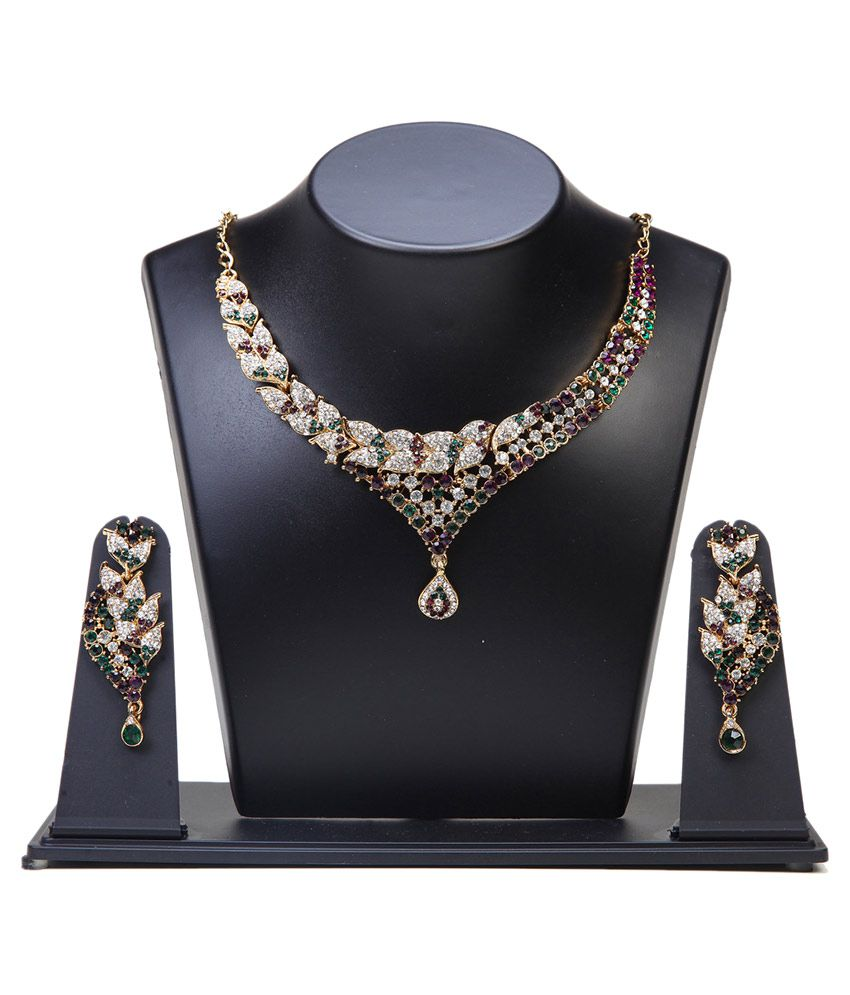 Puushpa Creation Multicolour Necklace Set
