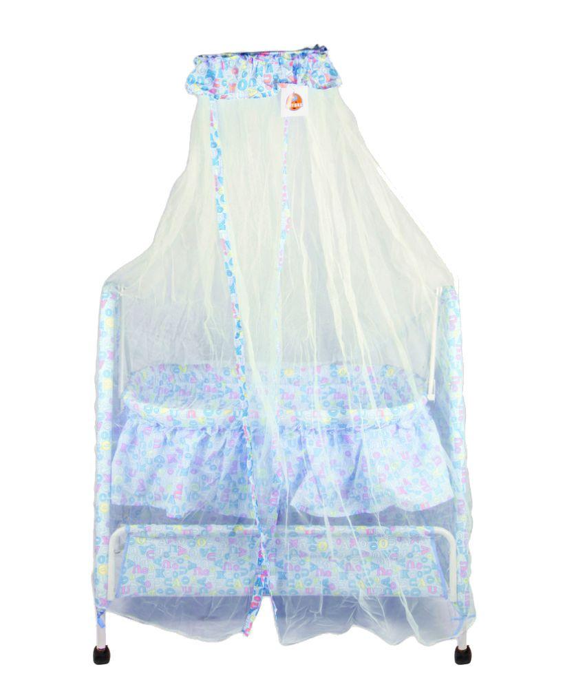 Baybee Blue Cotton Bassinet Cradle
