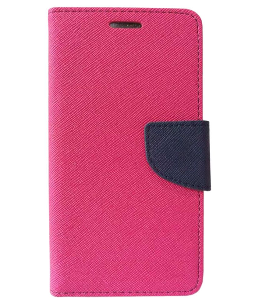 Moto G4 Plus Flip Cover by Kosher Traders - Pink