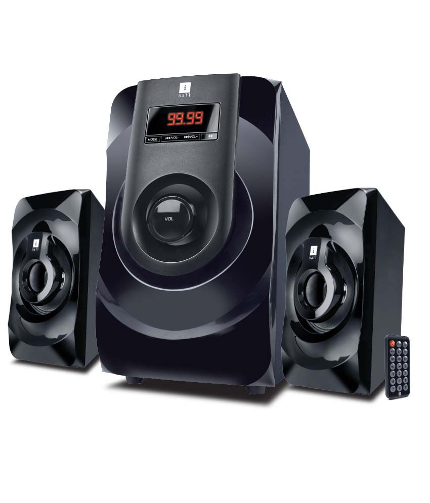 Iball Multimedia Speakers 2.1 Computer Speakers Black