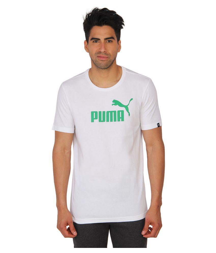 Puma White Cotton T-Shirt