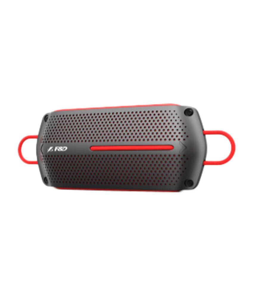 F&D W12 Waterproof Bluetooth Speaker - Black