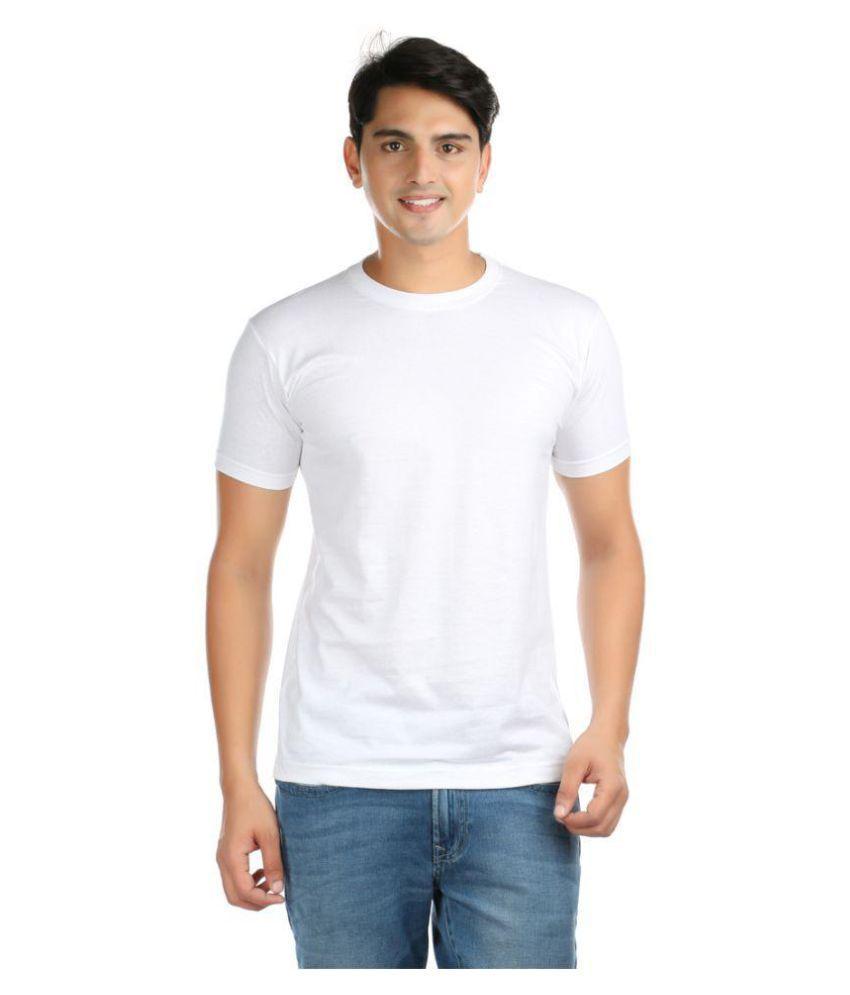 Vouteil White Round T-Shirt