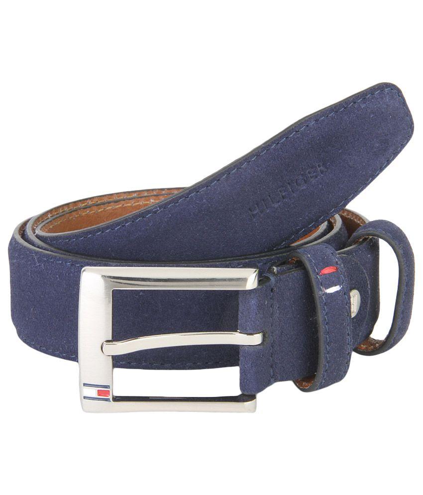 Tommy Hilfiger Blue Leather Belt For Men