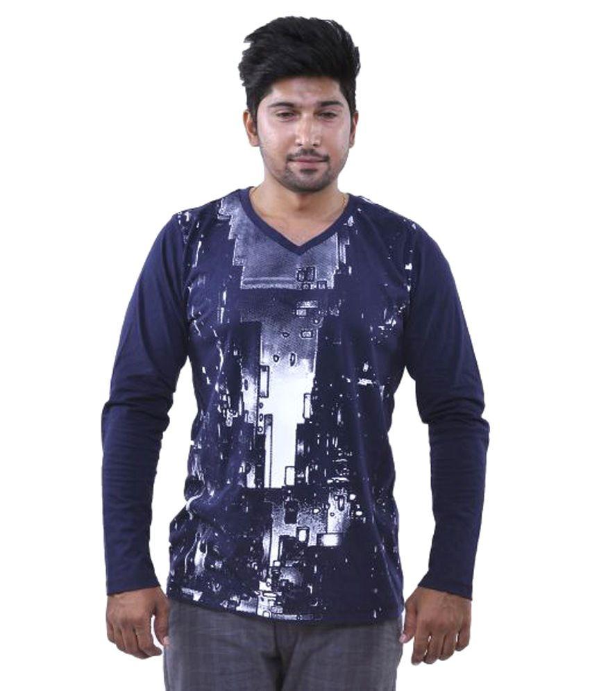 Oneliner Blue V-Neck T-Shirt