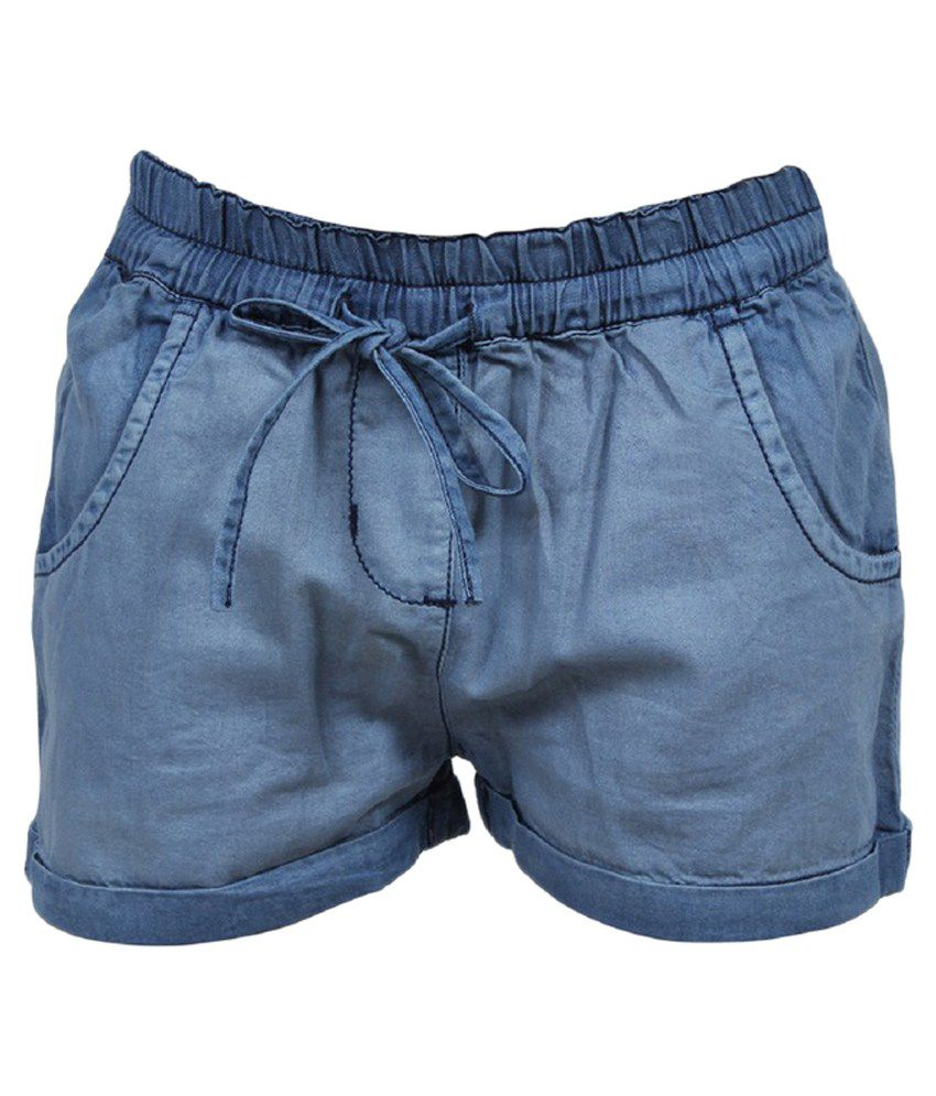 Trmpi Blue Cotton Shorts
