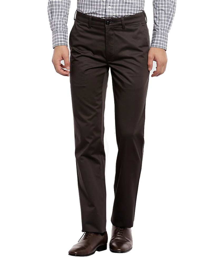 ColorPlus Black Slim Flat Trouser