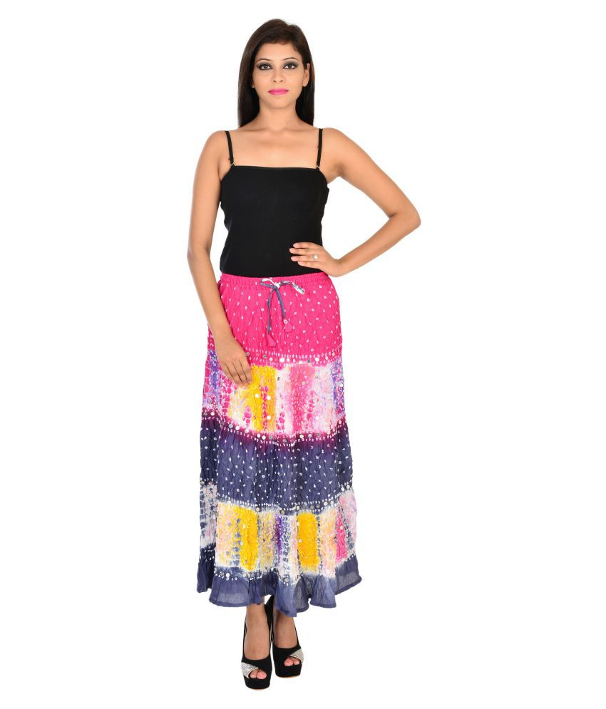 b10bd84305 Buy Ooltah Chashma Multi color Cotton Circle Skirt Online at Best Prices in  India - Snapdeal