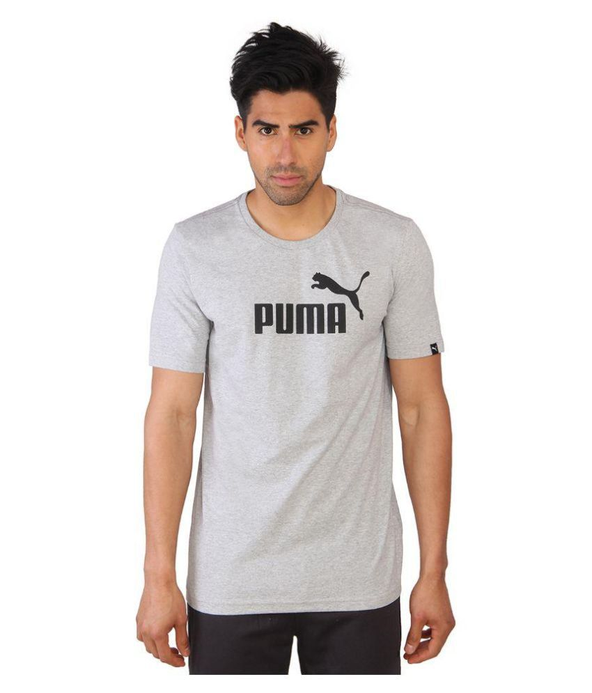 Puma Mens Printed Grey T-shirt