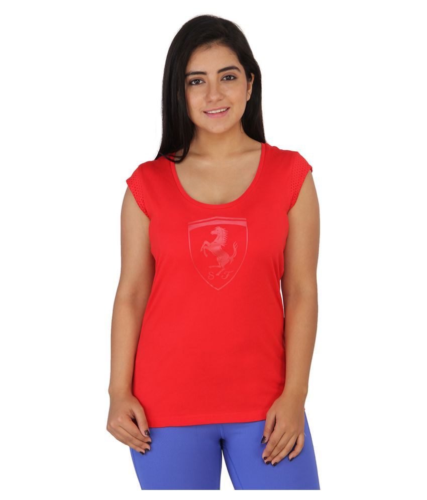 Puma Red Cotton T-Shirt