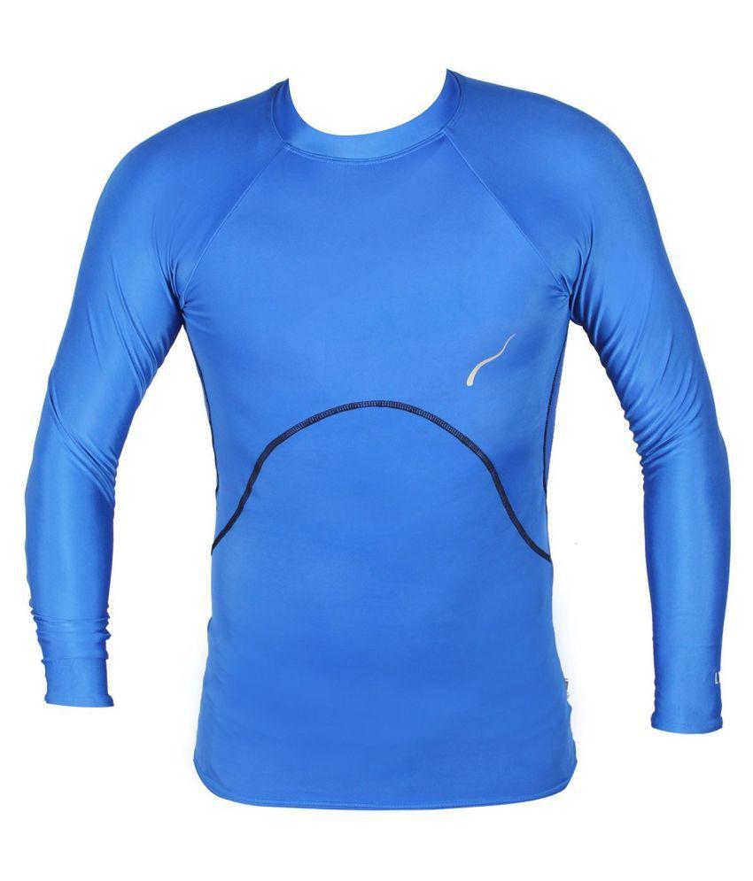 Lycot Blue Lycra T-Shirt