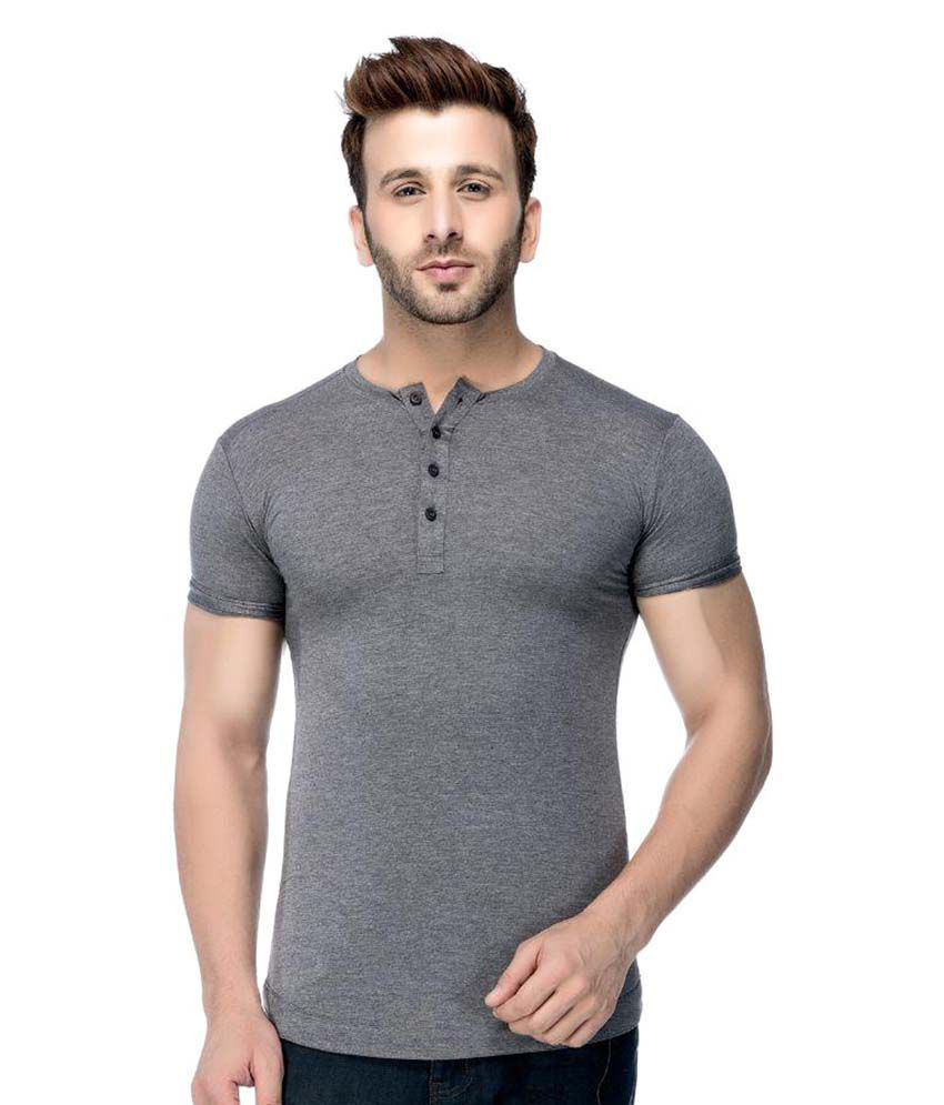 Tinted Grey Henley T-Shirt
