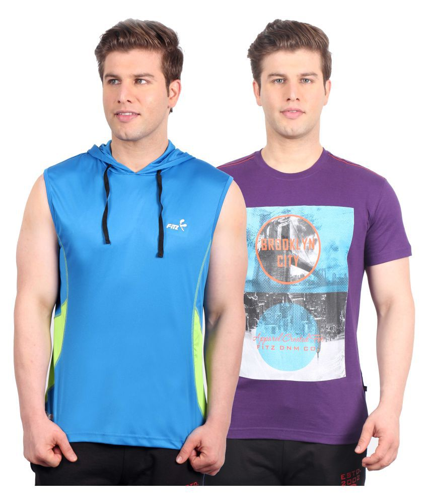 Fitz Multi Cotton Blend T-Shirt Pack of 2