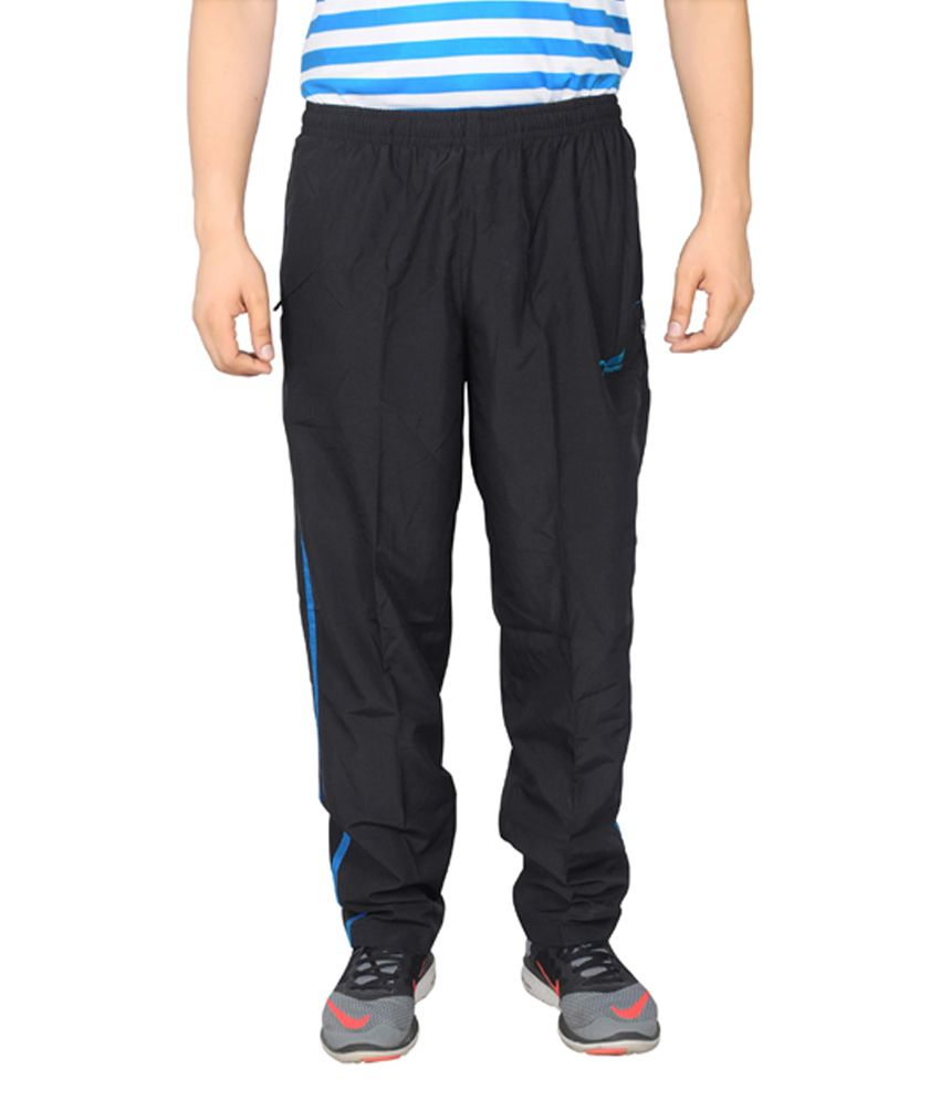 NNN Black Full Length Dry Fit Men's Track Pant