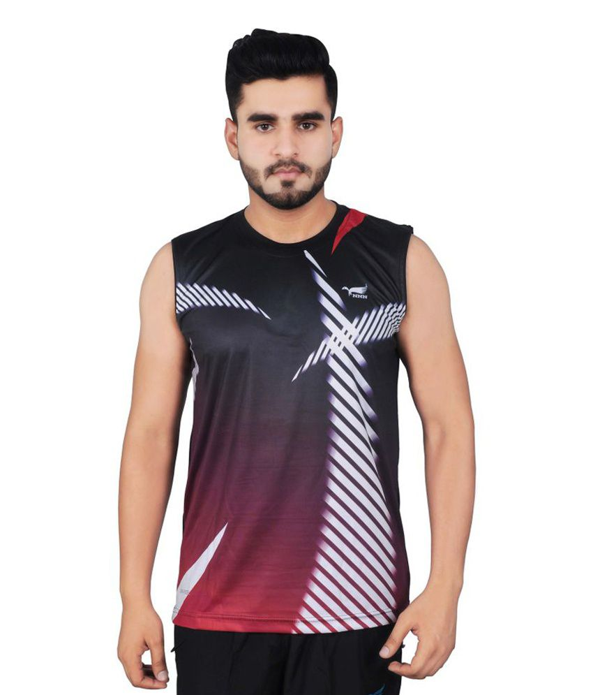 NNN Multicolour Sleeveless Dry Fit Men's T-shirt.
