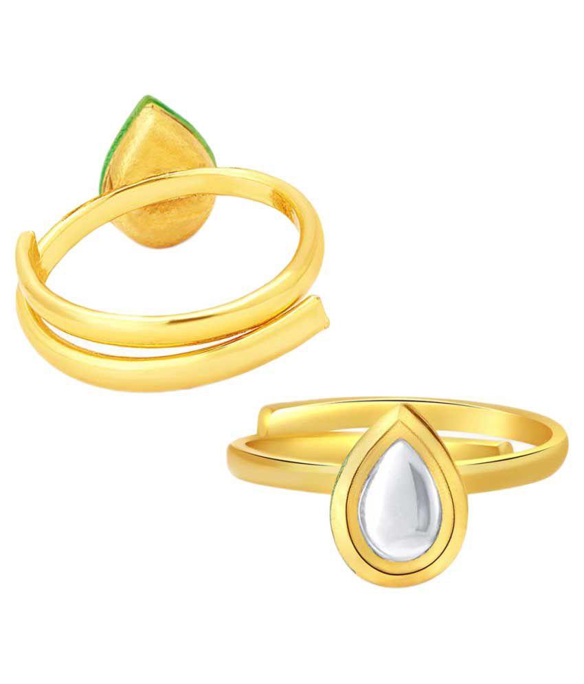 Sukkhi Golden Alloy Toe Ring for Women