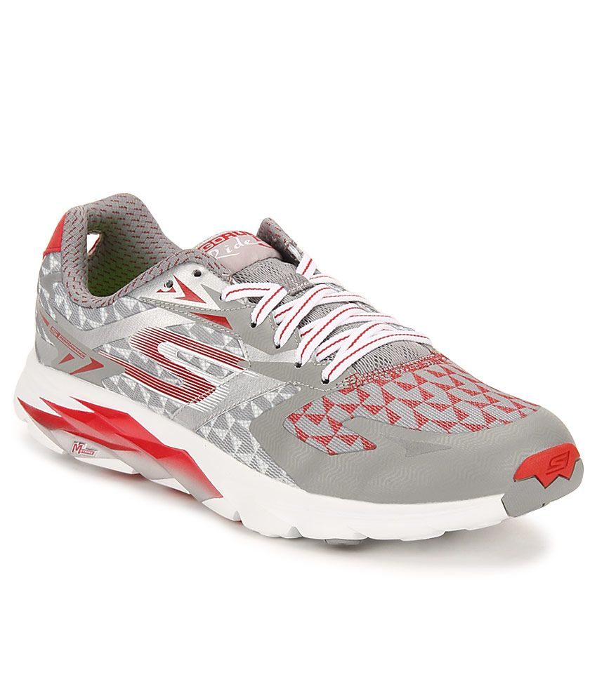 Skechers GO RUN RIDE 5 Gray Running Sports Shoes