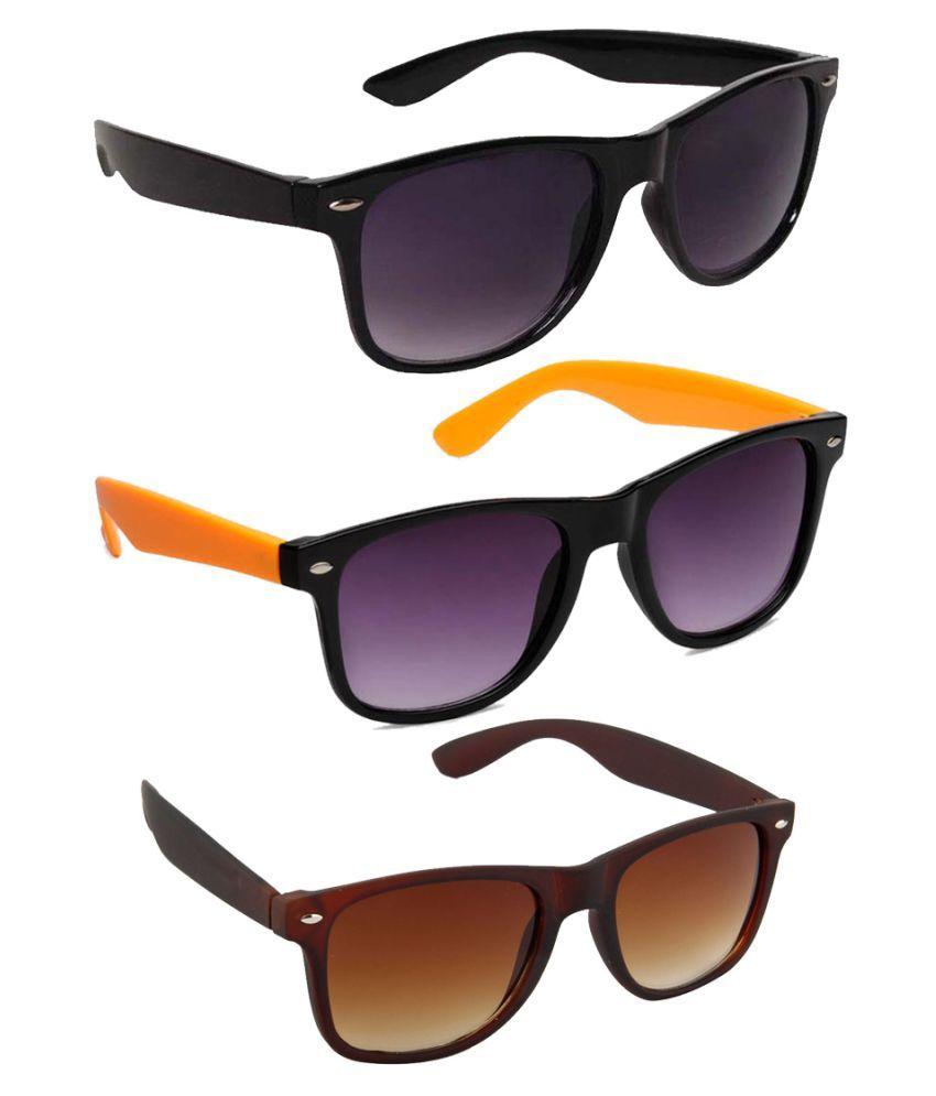 Faltu Multicolor Wayfarer Sunglasses ( 3BLKWAY35 )