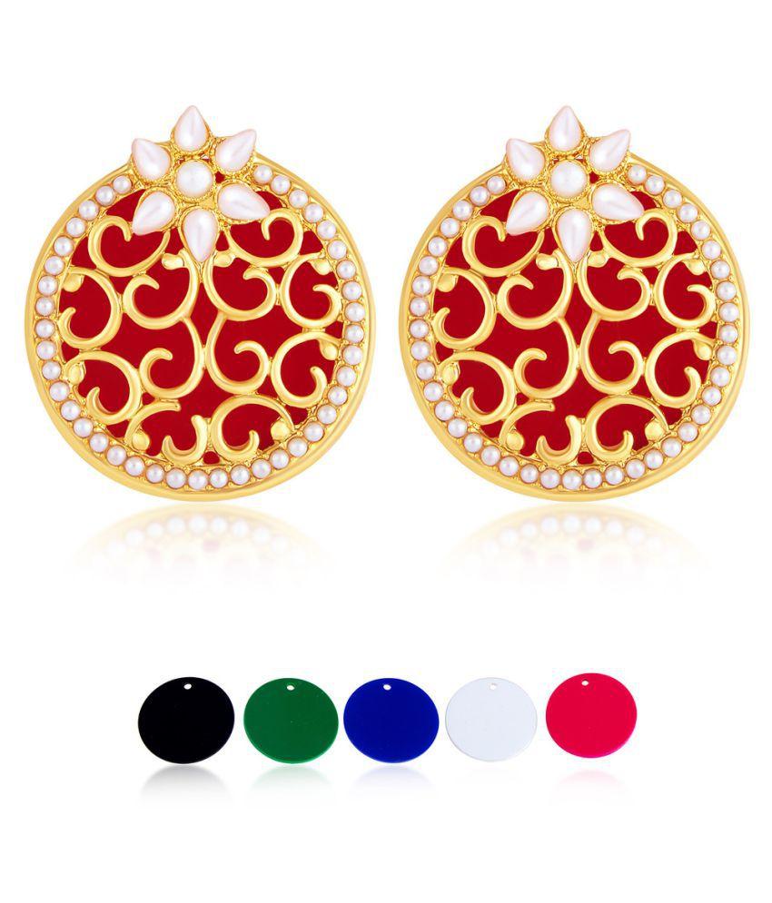 Sukkhi Multicolour Alloy Earrings