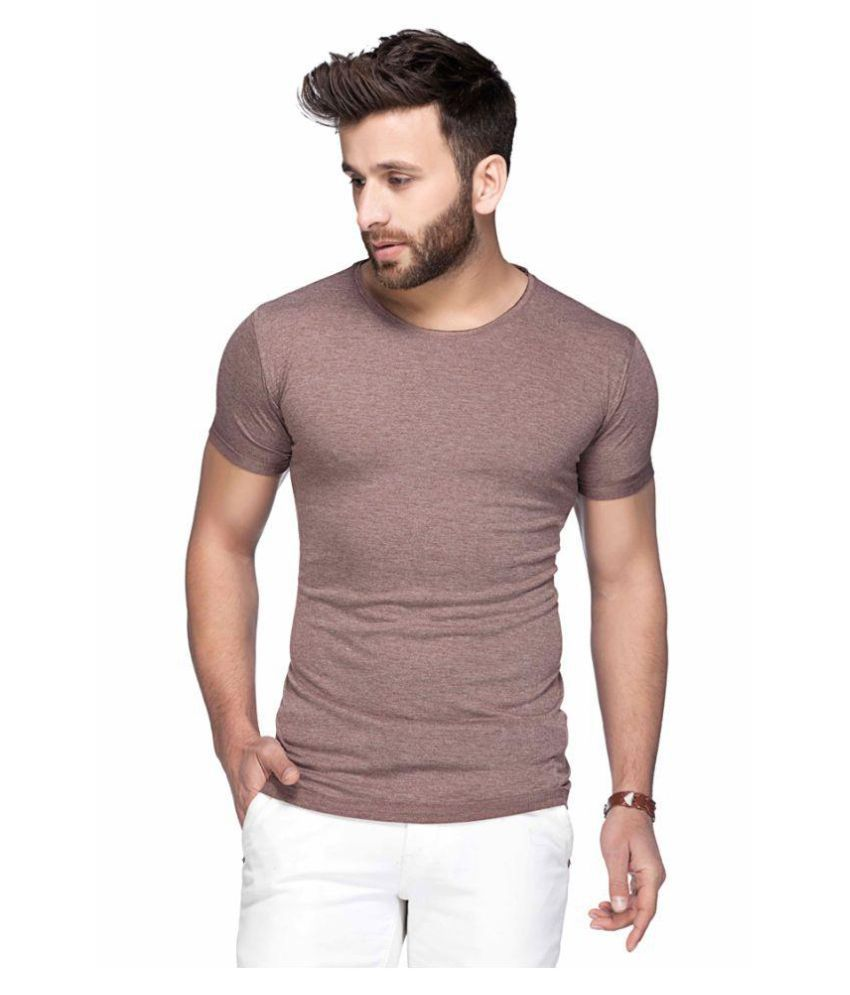 Tinted Brown Round T-Shirt