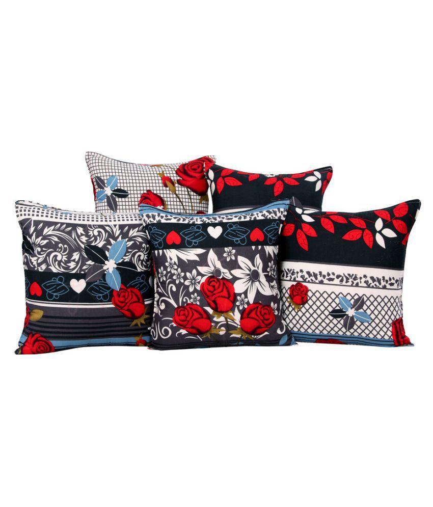 Trendz Home Furnishing Set of 5 Cotton Cushion Covers