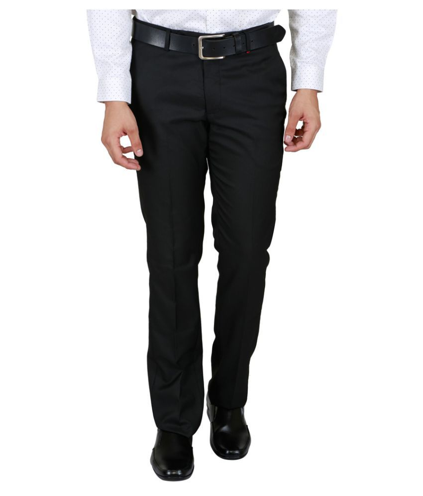 Lawman Pg3 Black Slim Flat Trouser