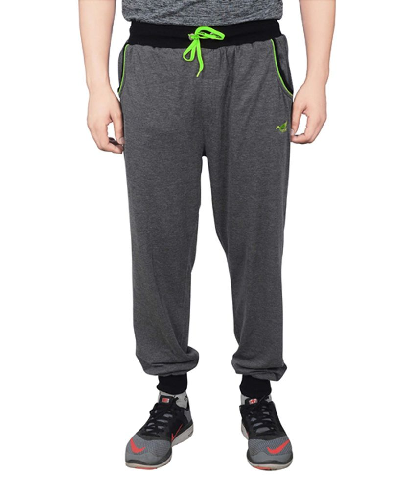 NNN Dark Grey Cotton Sports Men's Full Track Pant