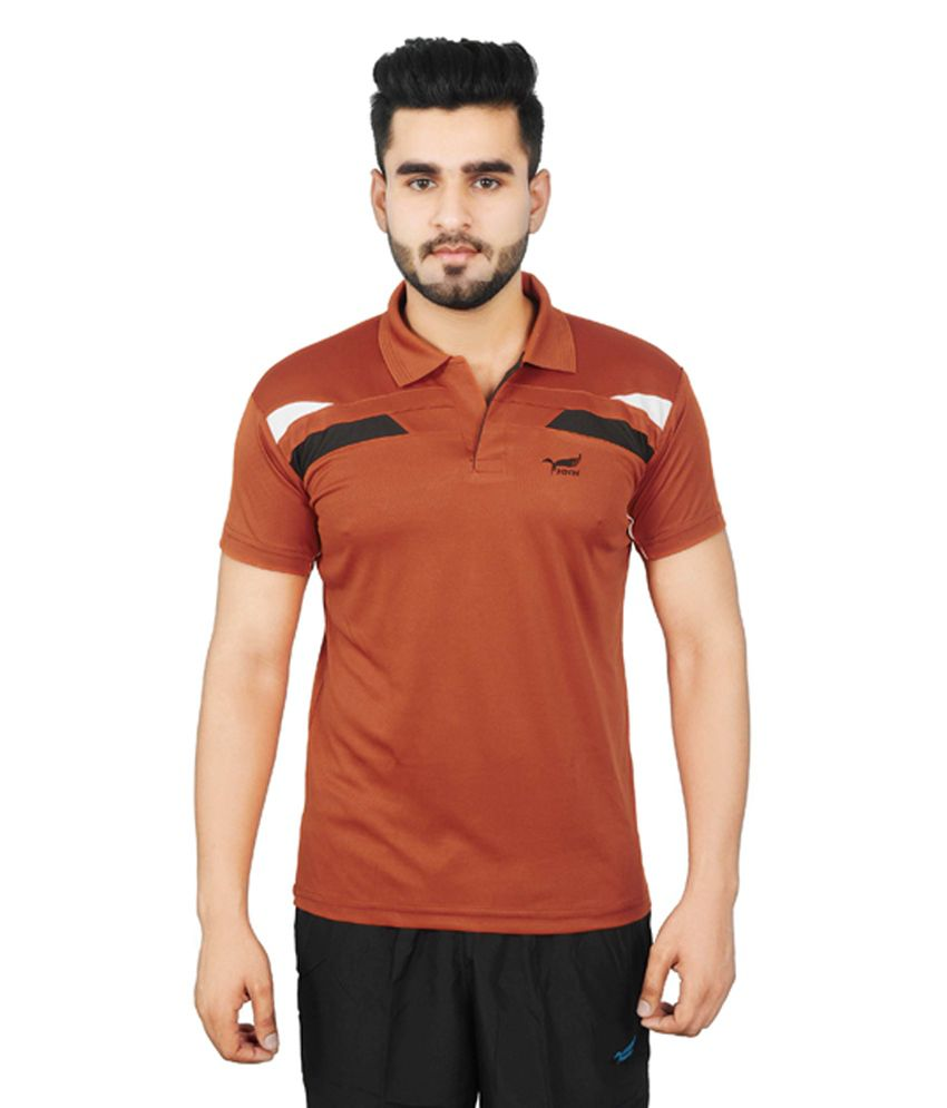 NNN Orange Half Sleeves Dry Fit Men's T-shirt