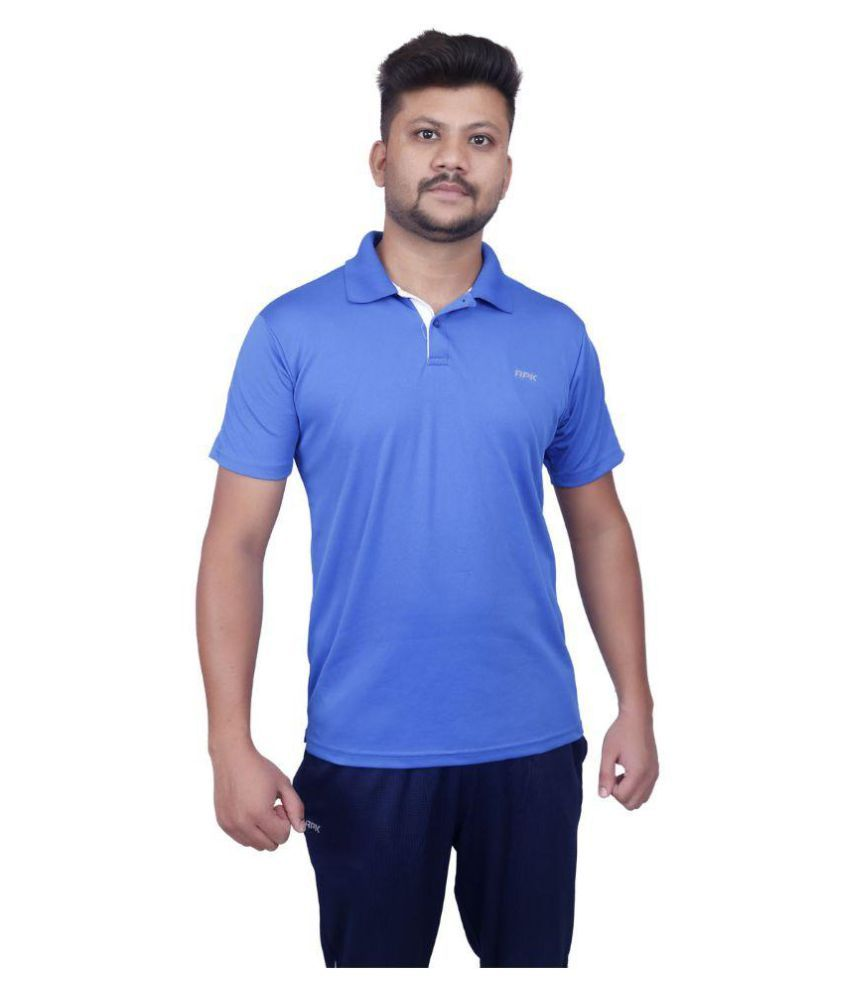JUSTIN ROYAL BLUE DRY FIT HALF SLEEVE T-SHIRT