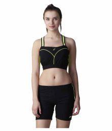 Flingr Black Polyester Blend Sports Bras - 630994253532