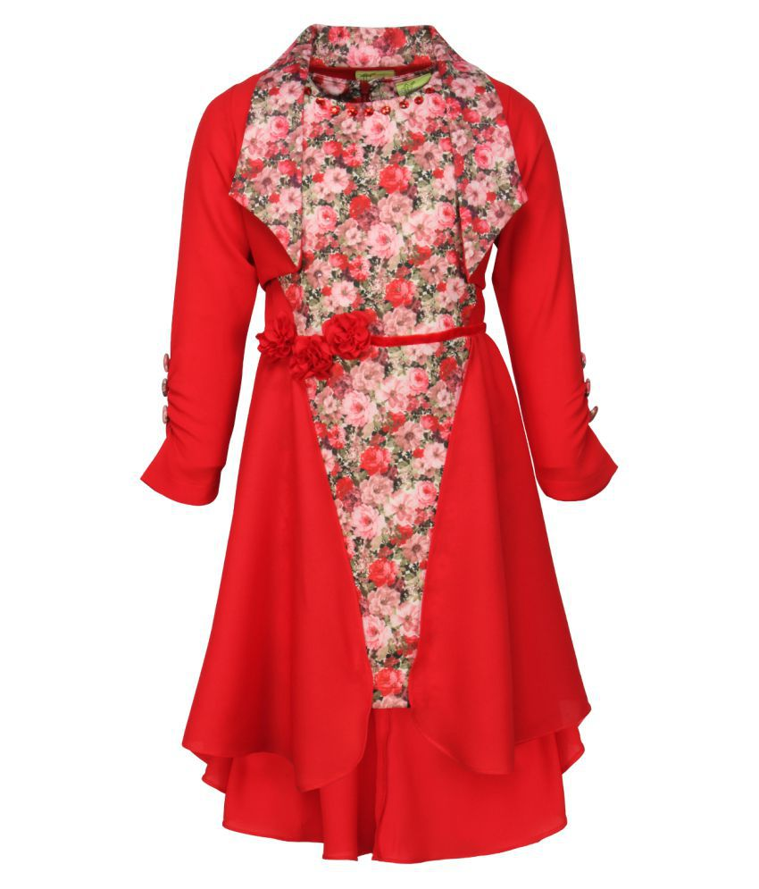 e575d902af1 Cutecumber Red Dress for Girls - Buy Cutecumber Red Dress for Girls Online  at Low Price - Snapdeal