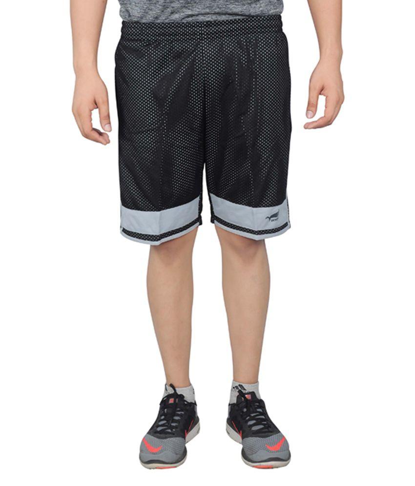 NNN Black Knee Length Dry Fit Men's Shorts