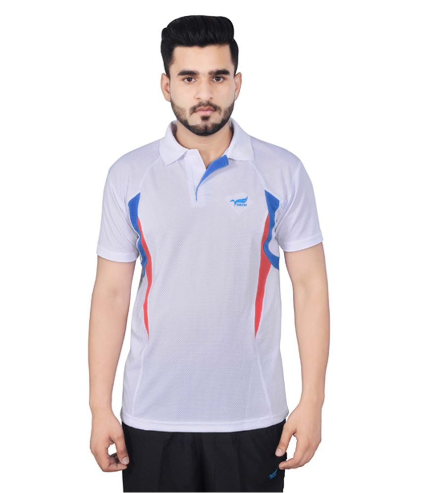 NNN White Half Sleeves Dry Fit Men's T-shirt
