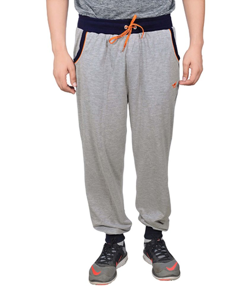 NNN Grey Cotton Sports Full Men's Track Pant