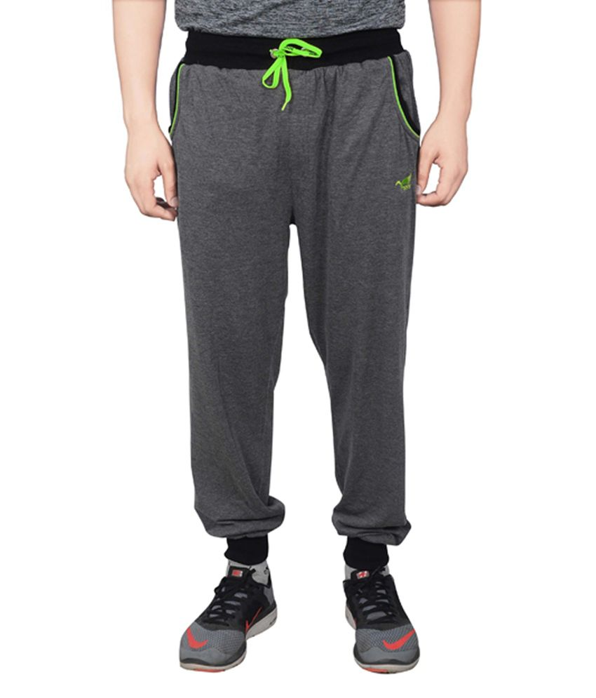 NNN Dark Grey Cotton Sports Full Men's Track Pant