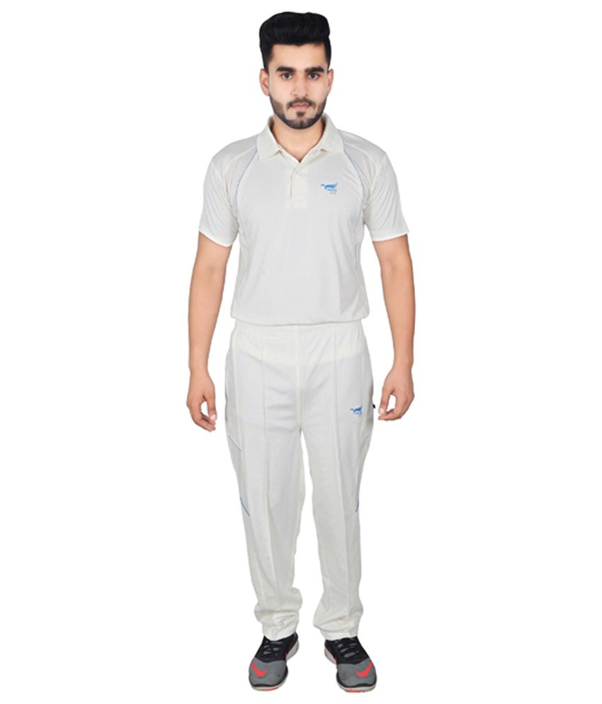 NNN White Dry Fit Cricket Men's Track Suit