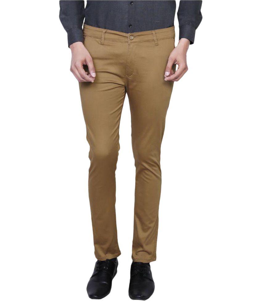 Variksh Gold Slim Flat Trouser