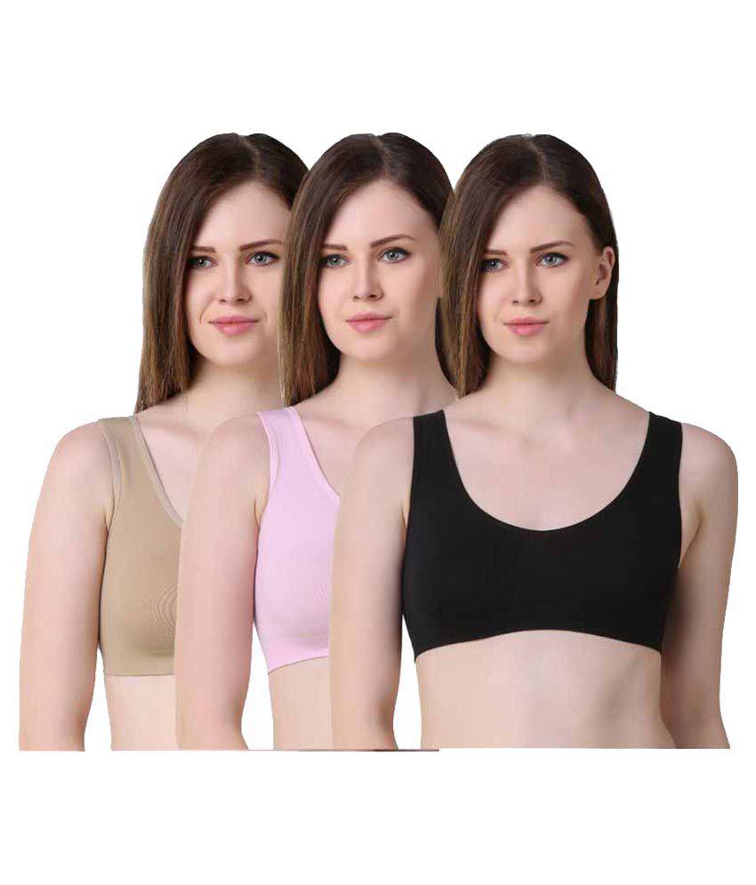 Anixa Multi Color Cotton Teenage Bra