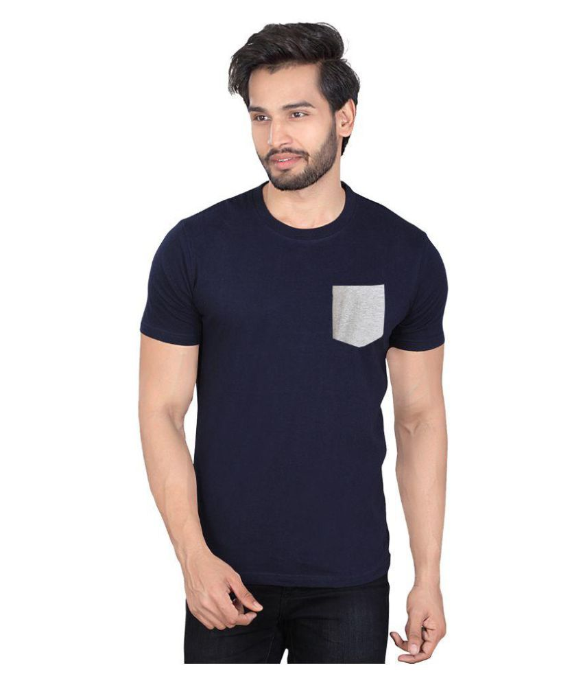 LUCfashion Navy Round T-Shirt