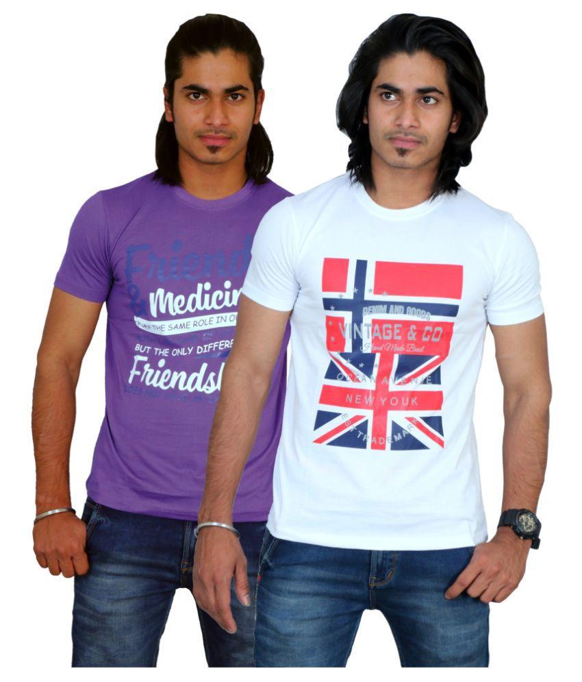 Maximblue Multi Round T-Shirt Pack of 2
