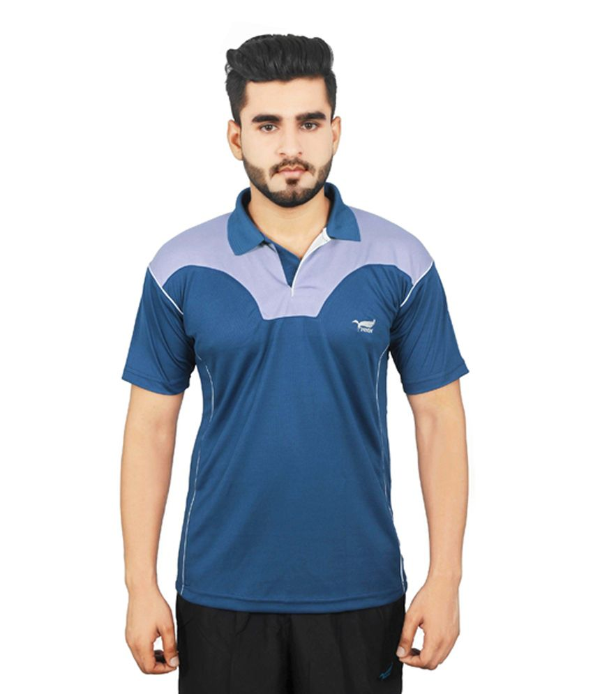 NNN Blue Half Sleeves Dry Fit Men's T-shirt
