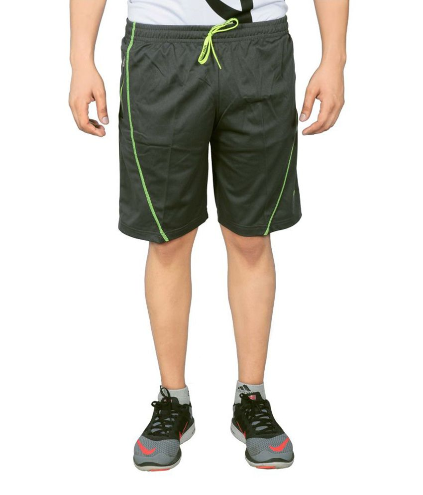 NNN Green Knee Length Dry Fit Men's Shorts